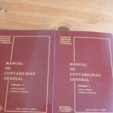 Libros de segunda mano: MANUAL DE CONTABILIDAD GENERAL - 2 TOMOS JORGE BUIREU GUARRO. Lote 54879882