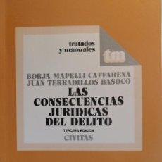 Libros de segunda mano: LAS CONSECUENCIAS JURÍDICAS DEL DELITO. B. MAPELLI CAFFARENA; J. TERRADILLOS BASOCO. CIVITAS. Lote 54912889
