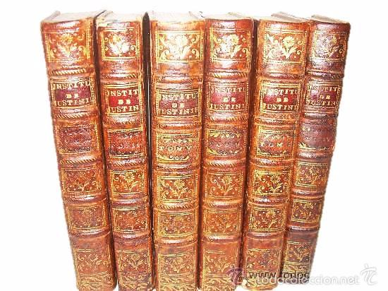 CODIGO DE JUSTINIANO SIGLO XVIII - AÑO. 1.773... DERECHO CIVIL ROMANO (Libros de Segunda Mano - Ciencias, Manuales y Oficios - Derecho, Economía y Comercio)
