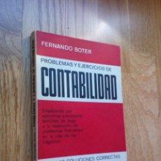 Libros de segunda mano: PROBLEMAS Y EJERCICIOS DE CONTABILIDAD. Lote 129435958