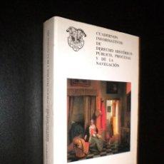 Libros de segunda mano: CUADERNOS INFORMATIVOS DE DERECHO HISTORICO PUBLICO, PROCESAL Y DE LA NAVEGACION / 15-16. Lote 119151980