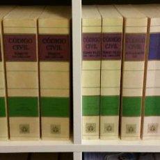 Libros de segunda mano: CÓDIGO CIVIL. 14 TOMOS. DOCTRINA Y JURISPRUDENCIA. ALBÁCAR LÓPEZ, J.L. 8 VOLÚMENES + 6 ACTUALIZ.. Lote 55993032
