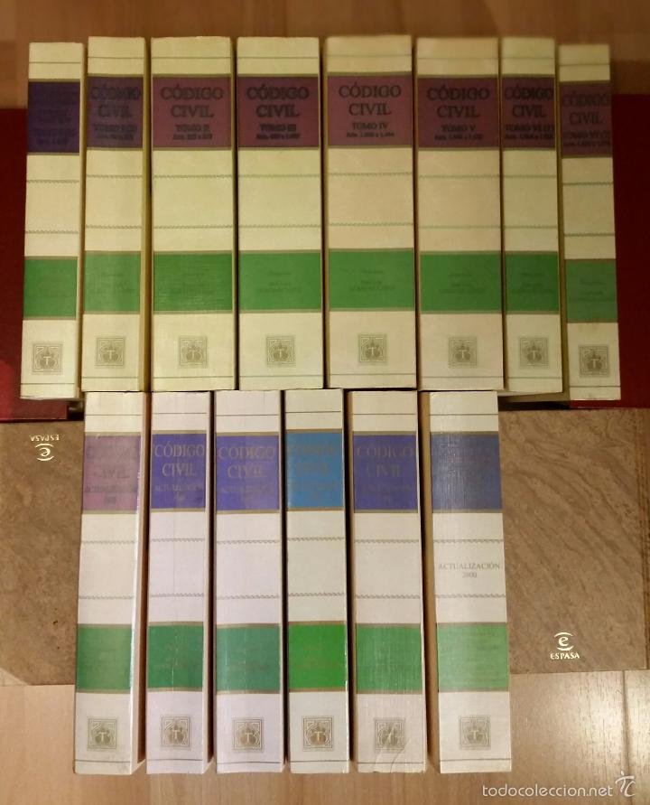 Libros de segunda mano: Código civil. 14 Tomos. Doctrina y jurisprudencia. ALBÁCAR LÓPEZ, J.L. 8 volúmenes + 6 actualiz. - Foto 2 - 55993032