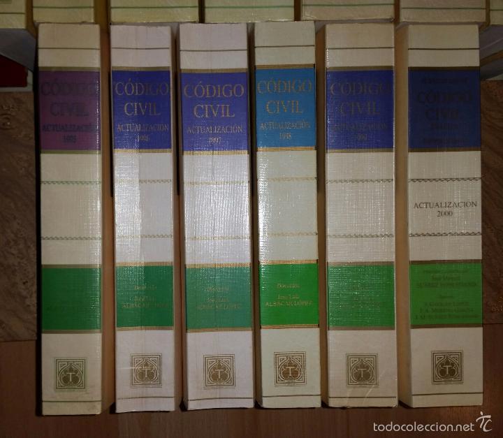 Libros de segunda mano: Código civil. 14 Tomos. Doctrina y jurisprudencia. ALBÁCAR LÓPEZ, J.L. 8 volúmenes + 6 actualiz. - Foto 3 - 55993032