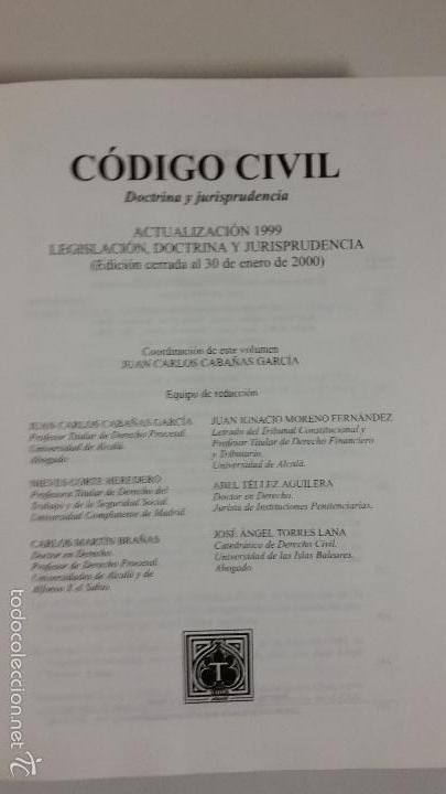Libros de segunda mano: Código civil. 14 Tomos. Doctrina y jurisprudencia. ALBÁCAR LÓPEZ, J.L. 8 volúmenes + 6 actualiz. - Foto 14 - 55993032