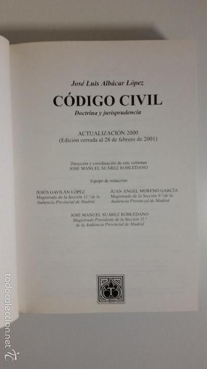 Libros de segunda mano: Código civil. 14 Tomos. Doctrina y jurisprudencia. ALBÁCAR LÓPEZ, J.L. 8 volúmenes + 6 actualiz. - Foto 15 - 55993032
