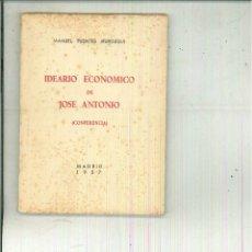 Libros de segunda mano: IDEARIO ECONÓMICO DE JOSÉ ANTONIO. (CONFERENCIA). MANUEL FUENTES IRUROZQUI. Lote 56099838