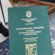 Libros de segunda mano: LIBRO CONTABILIDAD SUPERIOR ECONOMICO-FINANCIERO Y PATRIMONIAL ESCUELA DE AUDITORIA 1998 L-12064. Lote 56147135