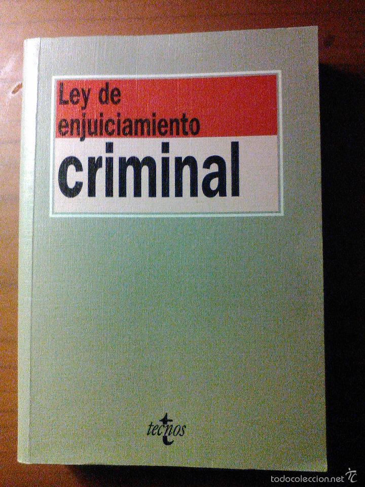 LEY DE ENJUICIAMIENTO CRIMINAL (Libros de Segunda Mano - Ciencias, Manuales y Oficios - Derecho, Economía y Comercio)