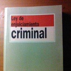 Libros de segunda mano: LEY DE ENJUICIAMIENTO CRIMINAL. Lote 56159234