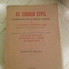 Libros de segunda mano: ANTIGUO LIBRO CÓDIGO CIVIL 1916. Lote 56187320