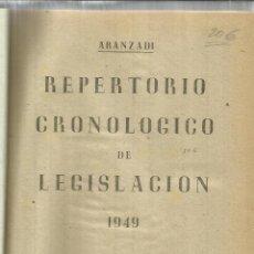 Libros de segunda mano: REPERTORIO CRONOLÓGICO DE LEGISLACIÓN. EDITORIAL ARANZADI. PAMPLONA. 1949. Lote 56611323