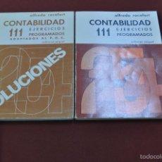 Libros de segunda mano: CONTABILIDAD 111 EJERCICIOS PROGRAMADOS - ALFREDO ROCAFORT - ED. MIQUEL. Lote 56646061