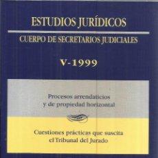 Libros de segunda mano: CUERPO DE SECRETARIOS JUDICIALES.PROCESOS ARRENDATICIOS. MINISTERIO DE JUSTICIA.1998. Lote 56733536