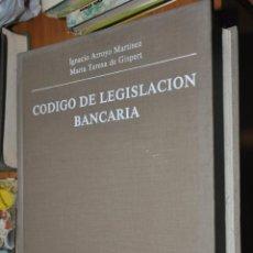 Libros de segunda mano: CODIGO DE LEGISLACION BANCARIA, IGNACIO ARROYO MARTINEZ, MARIA TERESA DE GISPERT, 1984. Lote 57105723