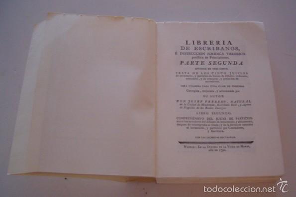 Libros de segunda mano: Librería de Escribanos. Parte Segunda. Tomos I y II. DOS TOMOS. (Edición facsímil). RM74837. - Foto 5 - 57182027