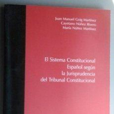 Libros de segunda mano: EL SISTEMA CONSTITUCIONAL ESPAÑOL SEGUN LA JURISPRUDENCIA DEL TRIBUNAL CONSTITUCIONAL, VARIOS. Lote 57635192
