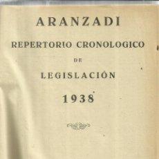 Libros de segunda mano: REPERTORIO CRONOLÓGICO DE LEGISLACIÓN. ESTANISLAO DE ARANZADI. 1ª EDICIÓN. PAMPLONA. 1938. Lote 57641956