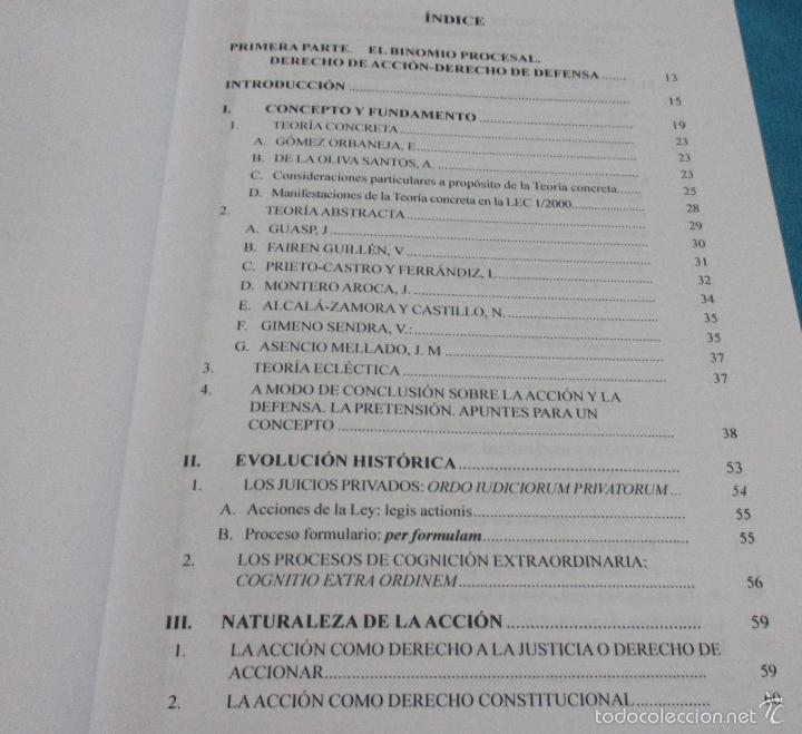 Libros de segunda mano: EL BINOMIO PROCESAL: DERECHO DE ACCION -DERECHO DE DEFENSA - Foto 5 - 58000283