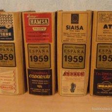 Libros de segunda mano: ANUARIO GENERAL - AÑO 1959 - COMPLETO - 4 TOMOS - IMPECABLES - ANTECESOR DE PAGINAS AMARILLAS -. Lote 58489325