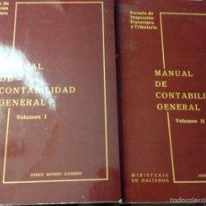 Libros de segunda mano: MANUAL DE CONTABILIDAD GENERAL (VOL I + VOL II) JORGE BUIREU GUARRO. Lote 58588423