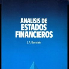 Libros de segunda mano: B135 - ANALISIS DE ESTADOS FINANCIEROS. EMPRESA. BANCA. ECONOMIA. FINANZAS.. Lote 59138710