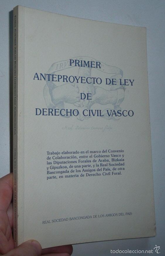 Primer Anteproyecto De Ley De Derecho Civil Vas Comprar Libros De Derecho Economía Y Comercio En Todocoleccion 60134895