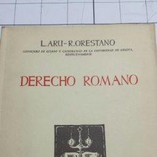 Libros de segunda mano: DERECHO ROMANO - L. ARU Y R. ORESTANO - EDITA EPESA AÑO 1964 - PRIMERA EDICIÓN. Lote 60180351