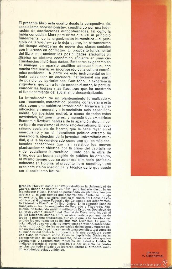 Libros de segunda mano: Teoría de la planificación económica - HORVAT, Branko. COL LIBROS ECONOMIA OIKOS 1970 - Foto 2 - 60647355