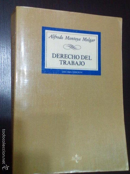 DERECHO DEL TRABAJO, ALFREDO MONTOYA MELGAR (Libros de Segunda Mano - Ciencias, Manuales y Oficios - Derecho, Economía y Comercio)