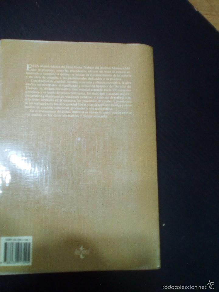 Libros de segunda mano: DERECHO DEL TRABAJO, Alfredo Montoya Melgar - Foto 3 - 60684795