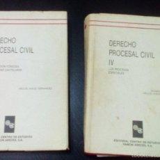 Libros de segunda mano: DERECHO PROCESAL CIVIL III Y IV, DE MIGUEL ANGEL FERNÁNDEZ Y ANDRÉS DE LA OLIVA. Lote 60692839
