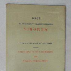 Libros de segunda mano: AGRUPACIÓN MUTUA DEL COMERCIO Y DE LA INDUSTRIA. MEMORIA 1960. Lote 60780979