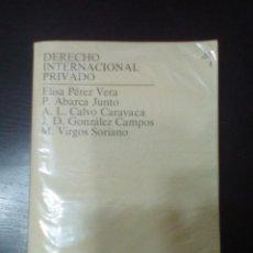 Libros de segunda mano: DERECHO INTERNACIONAL PRIVADO. Lote 61123119