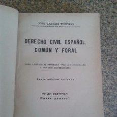 Libros de segunda mano: DERECHO CIVIL ESPAÑOL, COMUN Y FORAL -- TOMO PRIMERO - JOSE CASTAN TOBEÑAS - EDITORIAL REUS - 1943 -. Lote 61976052
