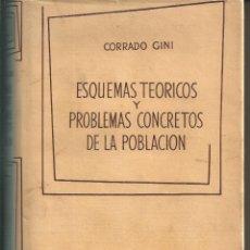 Libros de segunda mano: CORRADO GINI ESQUEMAS TEÓRICOS Y PROBLEMAS CONCRETOS DE LA POBLACIÓN AGUILAR 1963. Lote 62211516