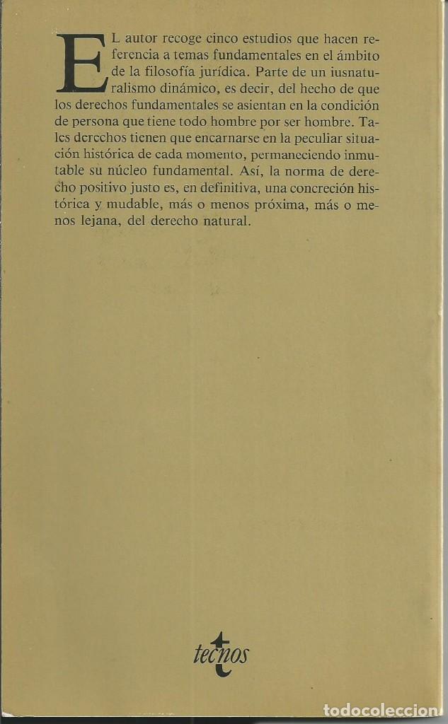 Libros de segunda mano: HOMBRE VIDA SOCIAL Y DERECHO. JAIME BRUFAU PRATS. 5 TRABAJOS FILOSOFIA JURIDICA. TECNOS MADRID 1987 - Foto 3 - 62685384