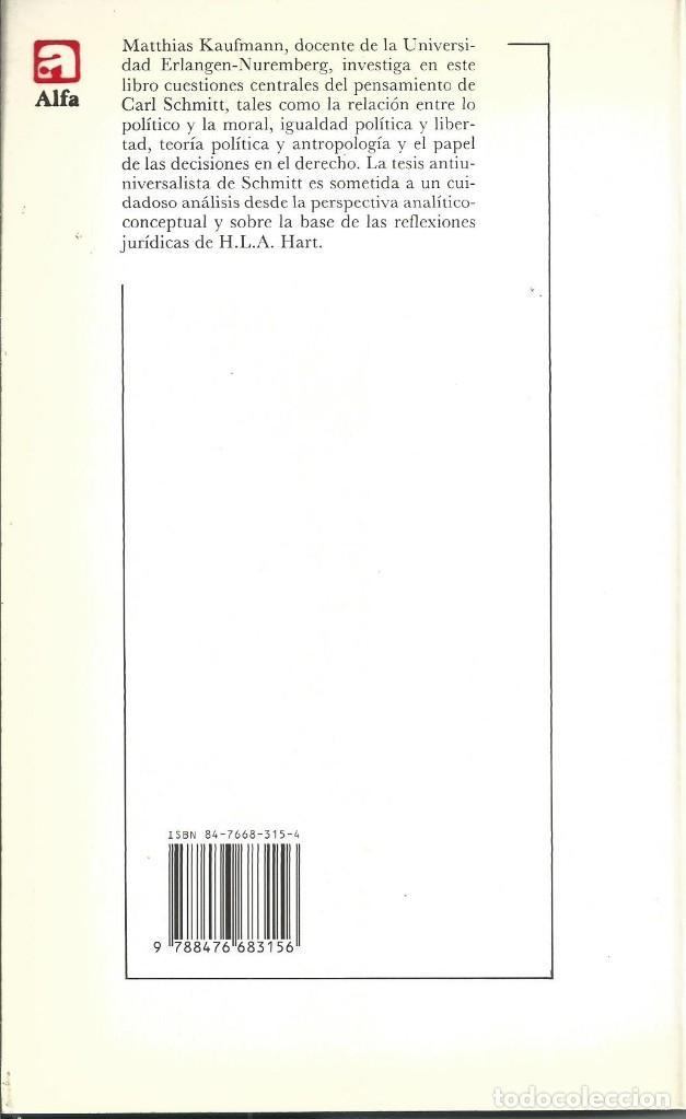 Libros de segunda mano: ¿Derecho sin reglas? por Matthias Kaufmann Barcelona 1989 (Estudios alemanes) filosofia Derecho - Foto 2 - 62686128