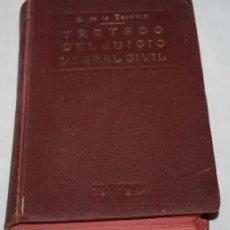 Libros de segunda mano: TRATADO DEL JUICIO VERBAL CIVIL, SANTIAGO DE LA ESCALERA, GONGORA AÑOS 20, LIBRO ANTIGUO. Lote 63294800