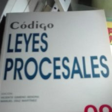 Libros de segunda mano: CODIGO DE LEYES PROCESALE 2009 INCLUYE CD.. Lote 63428924