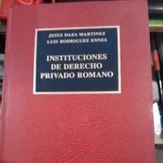 Libros de segunda mano: INSTITUCIONES DE DERECHO PRIVADO ROMANO (MADRID, 1997). Lote 63552480