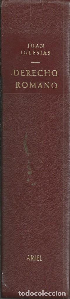 Libros de segunda mano: Derecho Romano. Juán Iglesias. 1972. Sexta edición revisada y aumentada. Ediciones Arial. UN CLASICO - Foto 2 - 64053839