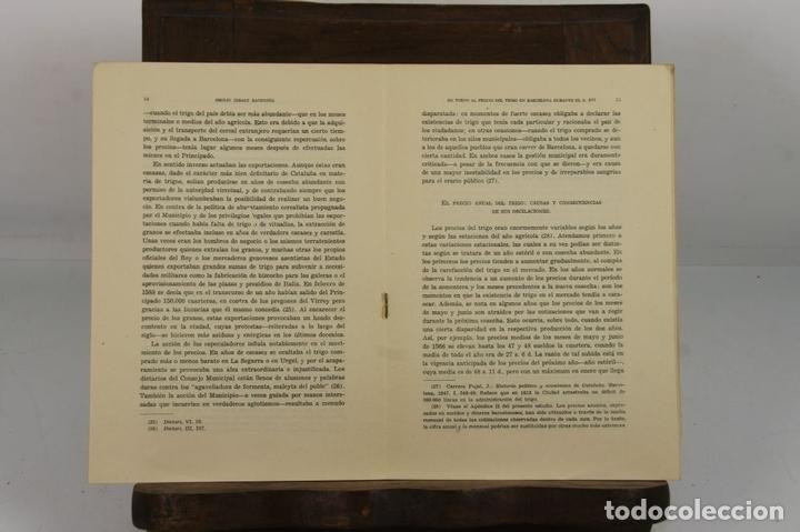 Libros de segunda mano: 4940- EN TORNO AL PRECIO DEL TRIGO EN BARCELONA. EMILIO GIRALT. EDIT. INST. JERONIMO. 1958. - Foto 2 - 44038979