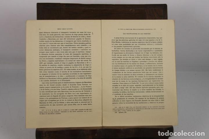 Libros de segunda mano: 4940- EN TORNO AL PRECIO DEL TRIGO EN BARCELONA. EMILIO GIRALT. EDIT. INST. JERONIMO. 1958. - Foto 3 - 44038979