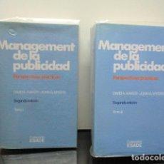 Libros de segunda mano: MANAGEMENT DE LA PUBLICIDAD TOMO I (DAVIDA AAKER - MYERS) VR FOTOS. Lote 168979174