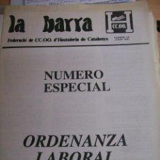 Libros de segunda mano - ORDENANZA LABORAL DE HOSTELERIA. LA BARRA. JUNIO 1991. - 64698895