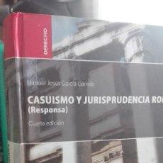 Libros de segunda mano: LIBRO CASI NUEVO CASUISMO Y JURISPRUDENCIA ROMANA (RESPONSA). Lote 64773679