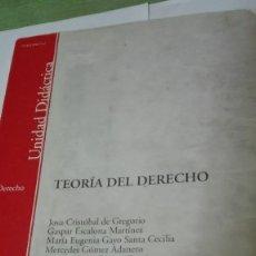 Libros de segunda mano: LIBRO DE TEORÍA DEL DERECHO DE LA UNED VARIOS AUTORES CASI NUEVO. Lote 64811915