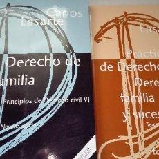 Libros de segunda mano: LIBRO DERECHO DE FAMILIA PRINCIPIOS DE DERECHO CIVIL VI Y PRÁCTICUM. Lote 64819207