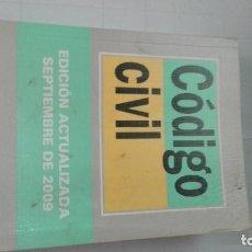 Libros de segunda mano: CODIGO CIVIL ACTUALIZADA SEPTIEMBRE 2009. Lote 64820411
